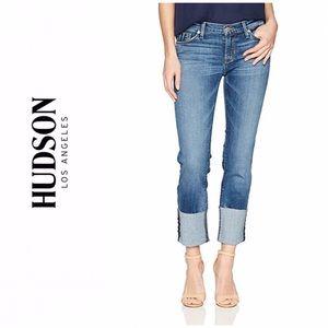 Hudson Tally Cuffed Crop Skinny Jeans
